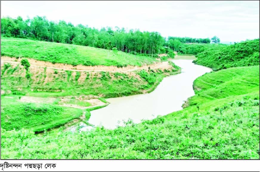 পর্যটনের নতুন আকর্ষণ কমলগঞ্জের 'পদ্মছড়া লেক'