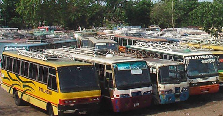 সুনামগঞ্জ-ঢাকা রুটে চলছে বাস ধর্মঘট